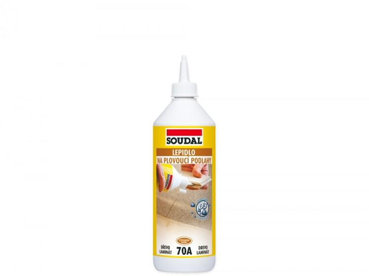Soudal 70A, быстросохнущий виниловый клей для полов, флакон 500 мл
