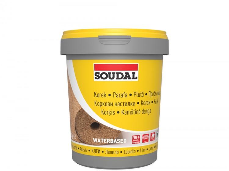 Soudal 22A, клей для пробковых покрытий, банка 1 кг