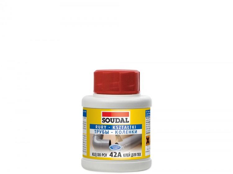 Soudal 42A Трубы Коленки, клей для труб на основе поливинилхлорида, флакон 50 мл