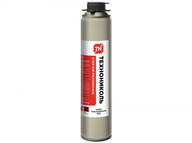 ТехноНИКОЛЬ 508 Professional, всесезонная профессиональная клей-пена для утеплителей, баллон 1000 мл