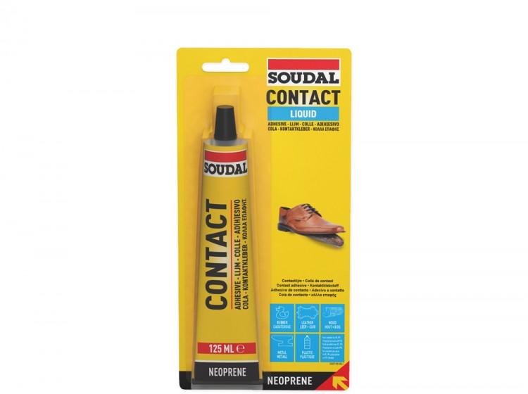 Soudal 44A, контактный клей, желтый, тюбик 125 мл