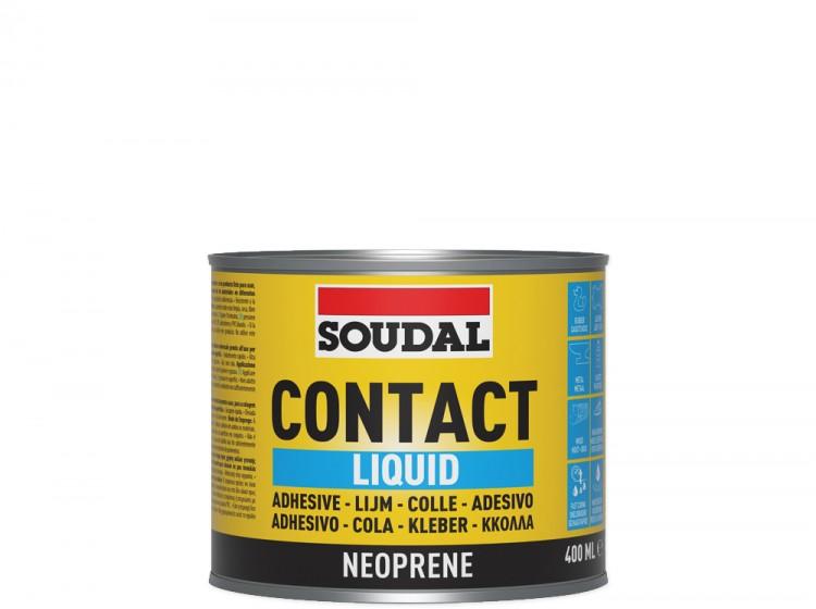 Soudal 44A, контактный клей, желтый, банка 400 мл