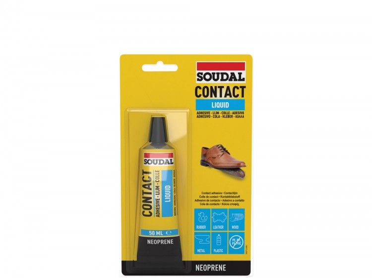 Soudal 44A, контактный клей, желтый, тюбик 50 мл
