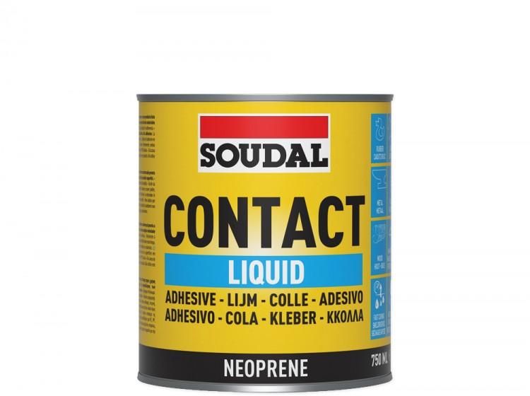 Soudal 44A, контактный клей, желтый, банка 750 мл