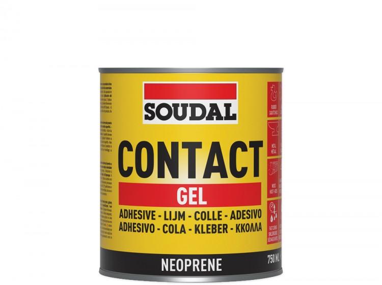 Soudal 46A, контактный клей в форме геля, желтый полупрозрачный, банка 750 мл