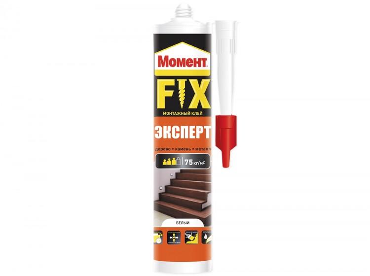 Момент Fix Эксперт, универсальный акриловый монтажный клей, белый, туба 380 г