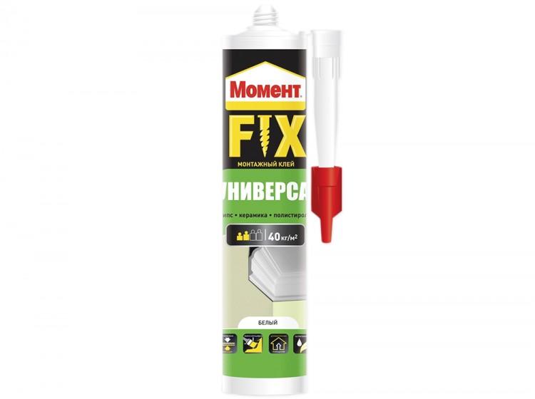 Момент Fix Универсал, монтажный акриловый клей, белый, туба 380 г