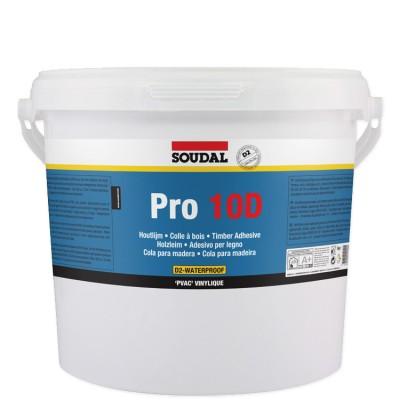 Soudal Pro 10D, ПВА-клей для дерева, банка 5 кг