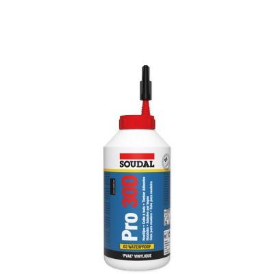 Soudal Pro 30D, влагостойкий клей для древесины, флакон 750 г