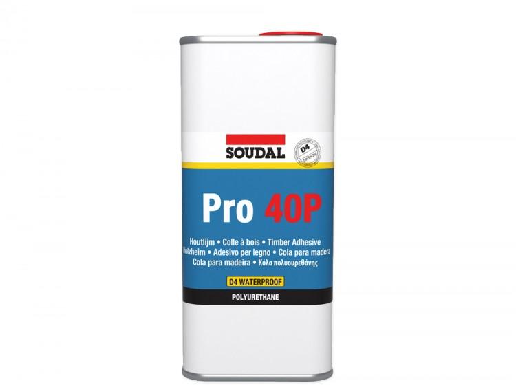 Soudal Pro 40P, полиуретановый клей для дерева, банка 5 кг
