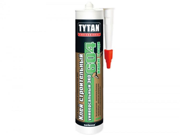 Tytan №604 Эко, универсальный монтажный клей на водной основе, матово-белый, туба 440 г