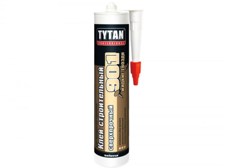Tytan №901, сверхпрочный каучуковый монтажный клей, бежевый, туба 380 г