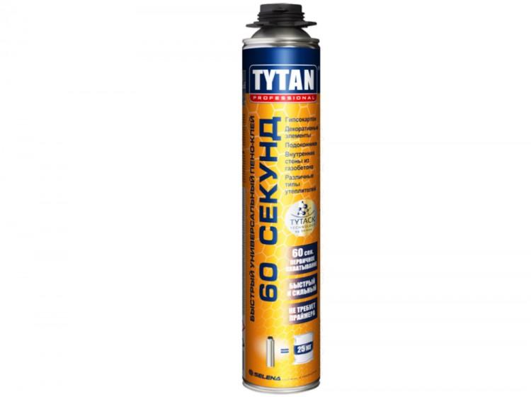 Tytan Быстрый многоцелевой пено-клей 60 секунд, профессиональная клей-пена, баллон 750 мл