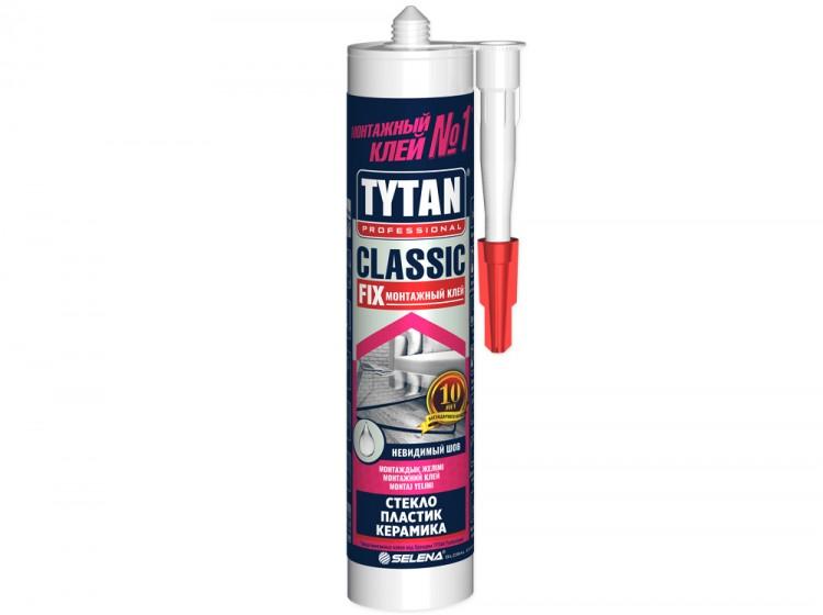 Tytan Classic Fix, универсальный каучуковый монтажный клей, бесцветный, туба 310 мл