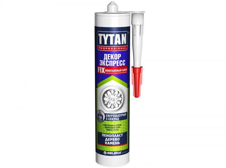 Tytan Декор Экспресс, акриловый монтажный клей, белый, туба 310 мл