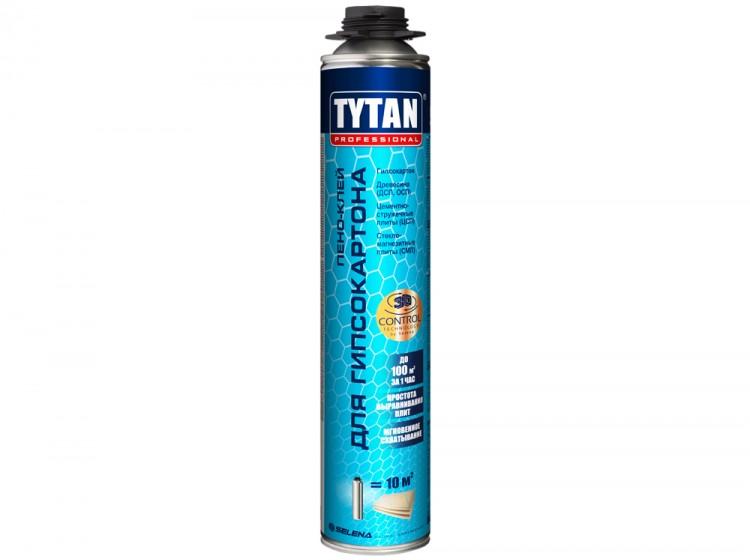 Tytan Пено-клей для гипсокартона, профессиональная клей-пена для плит, баллон 840 мл