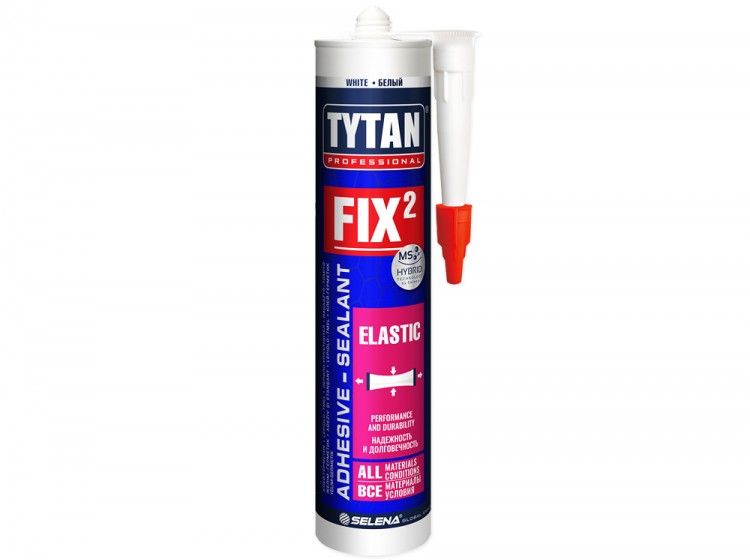 Tytan Fix2 Elastic, эластичный мс-полимерный клей-герметик, белый, туба 290 мл