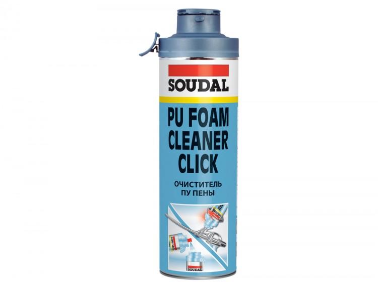 Soudal Gun&Foam Cleaner Click&Fix, очиститель монтажной пены, баллон 500 мл