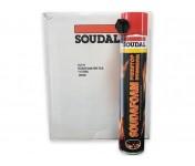 Soudafoam 1K FR, огнестойкая бытовая монтажная пена, баллон 750/1000 мл