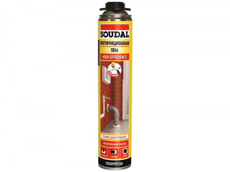 Многофункциональная пистолетная Soudal, летняя профессиональная монтажная пена, баллон 750/1000 мл