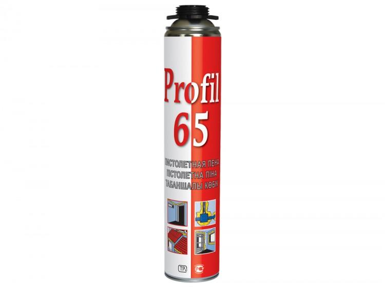 Profil 65, летняя профессиональная монтажная пена, баллон, 820/1000 мл
