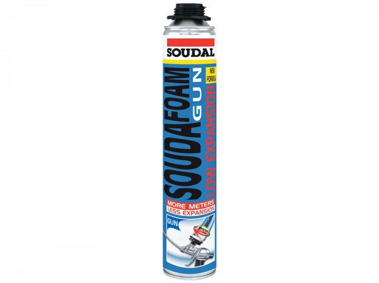 Soudafoam Low Expansion, летняя профессиональная монтажная пена с минимальным расширением, баллон 750/1000 мл