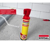 Genius Gun Soudal, зимняя многоразовая бытовая монтажная пена, баллон 750/1000 мл