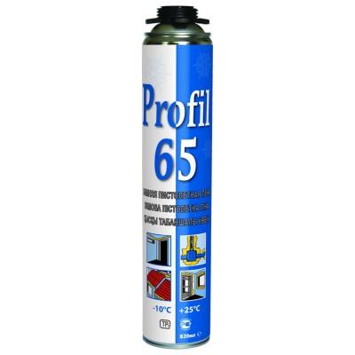Profil 65, зимняя профессиональная монтажная пена, баллон 820/1000 мл