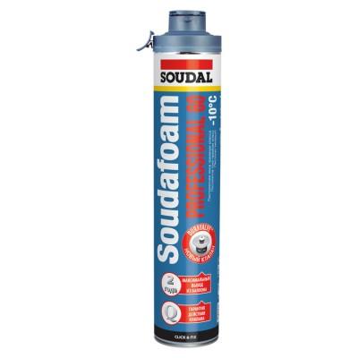 Soudafoam Professional 60 Click&Fix, зимняя профессиональная монтажная пена, баллон 750/1000 мл