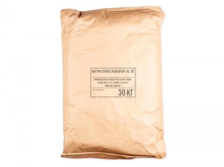Битум строительный БН 70/30, мешок 30 кг