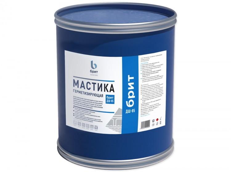 Герметизирующая битумно-полимерная мастика Брит ДШ-85, барабан 24 кг