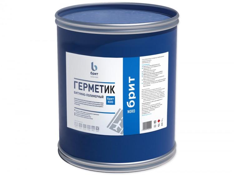 Битумно-полимерный герметик Брит NORD, барабан 22кг