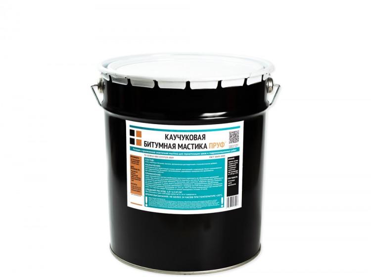 Битумно-каучуковая мастика Пруф, ведро 10 л
