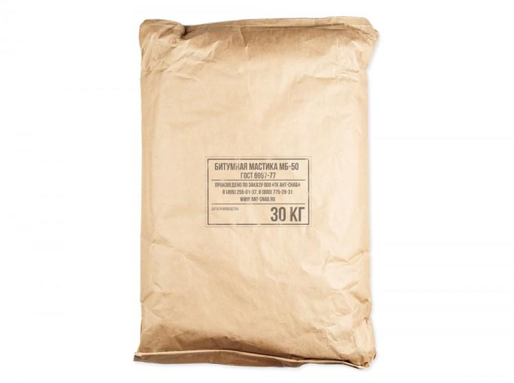 Битумно-масляная нетвердеющая мастика МБ-50, мешок 30 кг