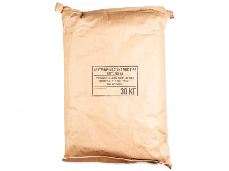 Битумная кровельная горячая мастика МБК-Г-55, мешок 30 кг