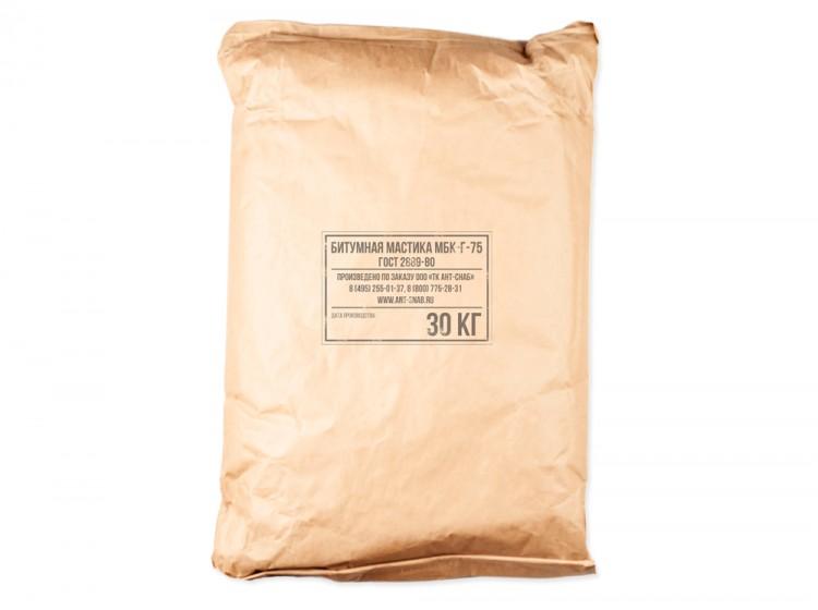 Битумная кровельная горячая мастика МБК-Г-75, мешок 30 кг
