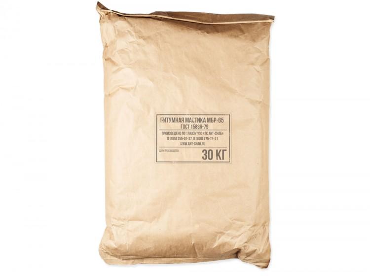 Битумно-резиновая горячая мастика МБР-65, мешок 30 кг