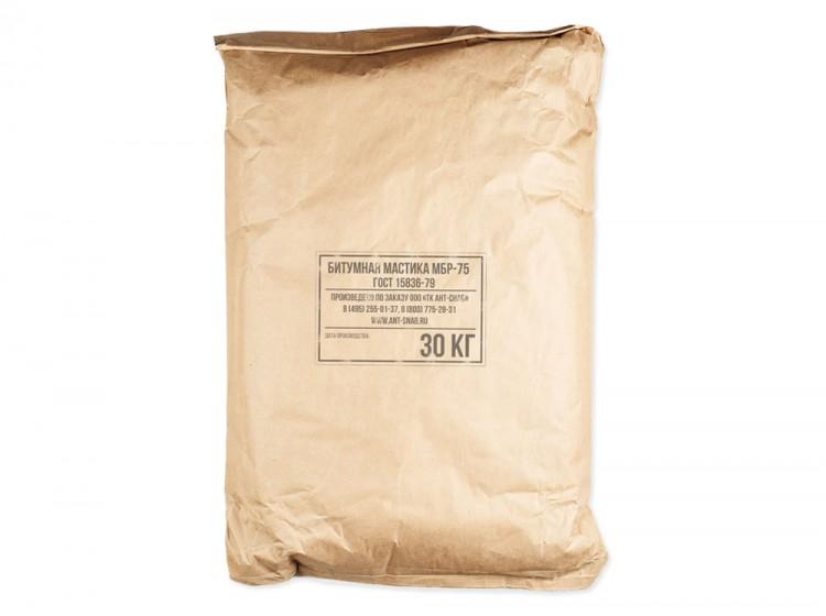 Битумно-резиновая горячая мастика МБР-75, мешок 30 кг