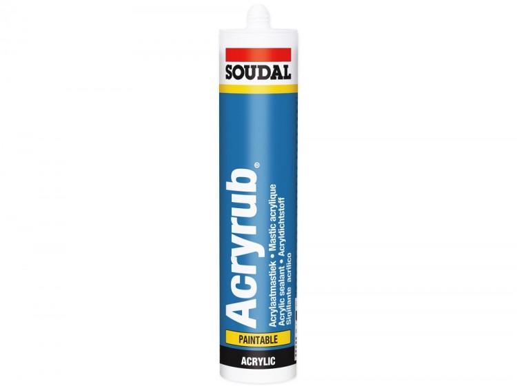 Acryrub, профессиональный акриловый герметик Soudal, черный, туба 310 мл