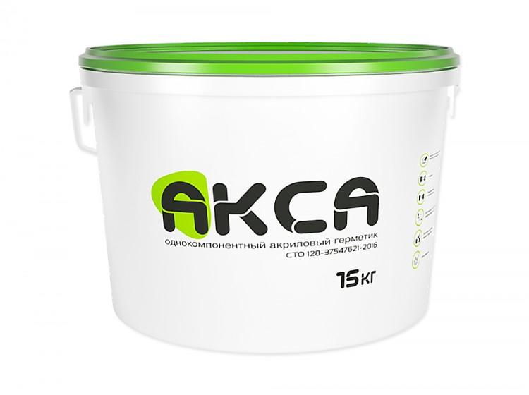 АКСА, акриловый герметик для швов, серый, ведро 15 кг
