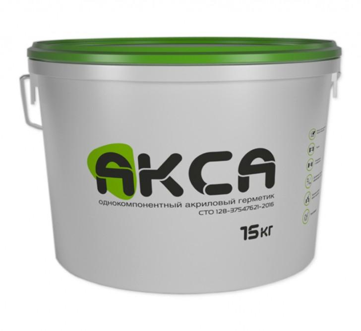 АКСА, акриловый герметик для швов, белый, ведро 15 кг