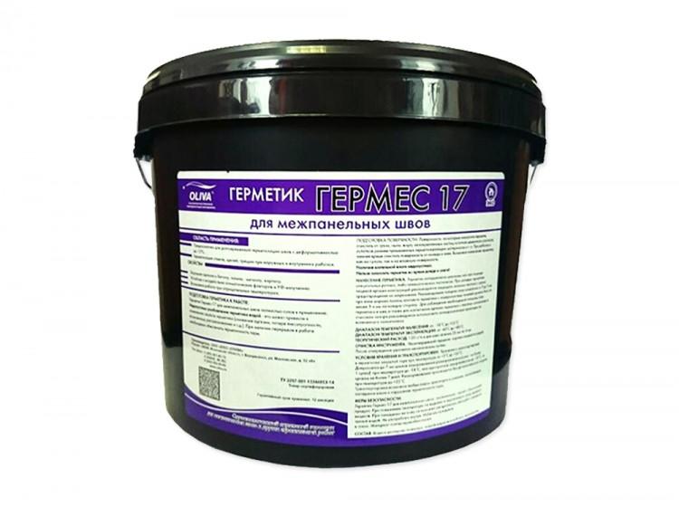 Гермес-17, акриловый герметик для швов, белый, ведро 15 кг