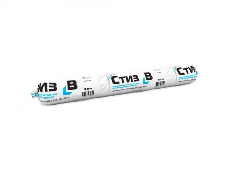 Стиз В, пароизоляционный акриловый герметик для внутренних слоев монтажных швов, светло-серый, колбаса 600 мл