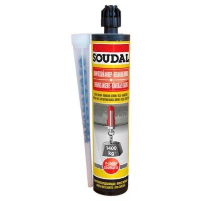 Soudafix P300-SF, полиэстеровый двухкомпонентный бытовой химический анкер, серый, туба 280 мл