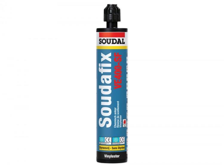 Soudafix VE400-SF, винилэстеровый двухкомпонентный морозостойкий химический анкер, серый, туба 280 мл