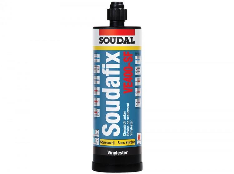 Soudafix VE400-SF, винилэстеровый двухкомпонентный морозостойкий химический анкер, серый, туба 380 мл