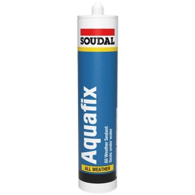 Aquafix, кровельный герметик Soudal, бесцветный, туба 300 мл