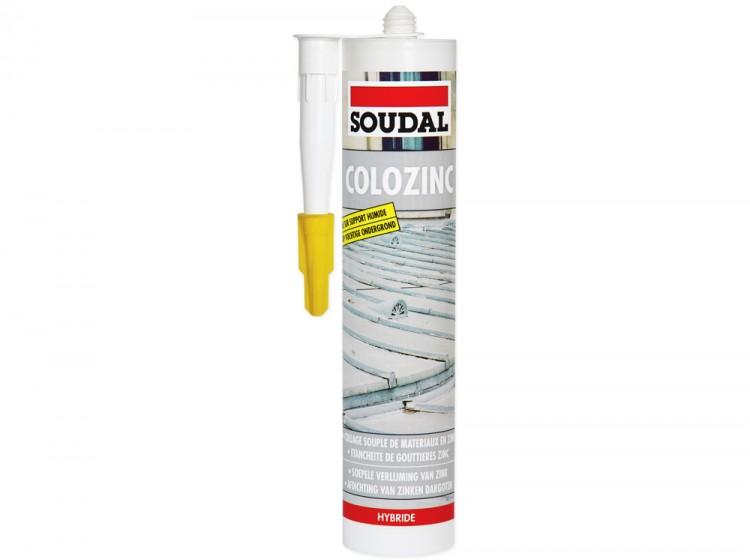 Colozinc, эластичный МС-полимерный клей-герметик для металлочерепицы, коричневый, туба 290 мл