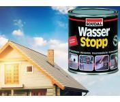 Wasser Stop, армированное покрытие для импрегнации крыш, серый, банка 750 г