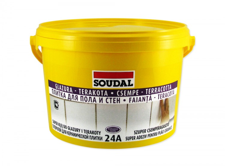 Суперклей для плитки Soudal 24A, серый, ведро 15 кг